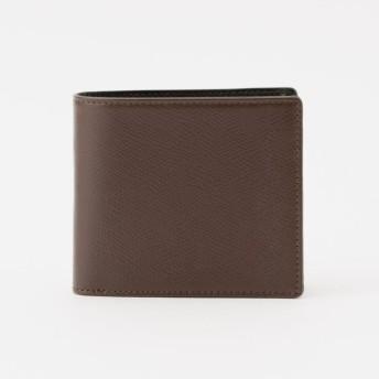 【ポール・スチュアート メン(Paul Stuart MEN)】 サフィアーノレザー2つ折り財布 ブラウン系