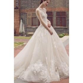 レー    ウエディングドレス 二次会 花嫁 ワンピース ドレス ロングドレス パーティードレス ウェディング 花嫁 白 ウエディングドレス