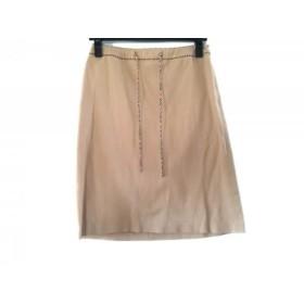 【中古】 バーバリーブルーレーベル Burberry Blue Label スカート サイズ38 M レディース ベージュ