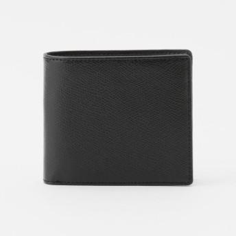 【ポール・スチュアート メン(Paul Stuart MEN)】 サフィアーノレザー2つ折り財布 ブラック