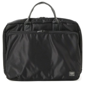PORTER / PORTER TIME 2WAY BRIEFCASE L メンズ ビジネスバッグ BLACK ONE SIZE