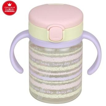 [200ml] さらにもれにくい おでかけストローマグ ピンク 育児用品 お食事用品 マグ (108)