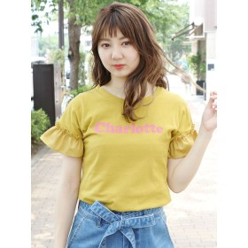 カットソー - dazzlin CharlotteロゴフリルTシャツ