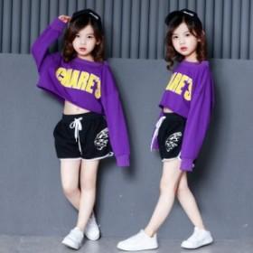 2点子供 ダンス 衣装 ヒップホップ ダンストップス HIPHOP キッズダンス衣装 ステージ衣装 ジャズダンス ウエア 衣装 18xh206