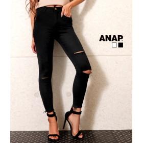 【セール開催中】ANAP(アナップ)スーパーストレッチスラッシュスキニーパンツ