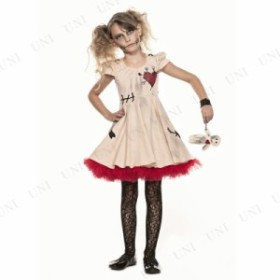 ブードゥーガール 子供用 S 仮装 衣装 コスプレ ハロウィン 子供 ゾンビ コスチューム 子ども用 キッズ こども パーティーグッズ ホラー