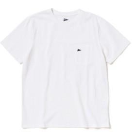Pilgrim Surf+Supply / Pennant Pocket Tee メンズ Tシャツ BRIGHT WHITE(ロゴ⇒ネイビー) M