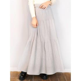 ミニスカート - dazzlin 【C】ラメティアードロングスカート