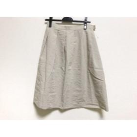 【中古】 レキップ ヨシエイナバ L'EQUIPE YOSHIE INABA スカート サイズ38 M レディース グレージュ