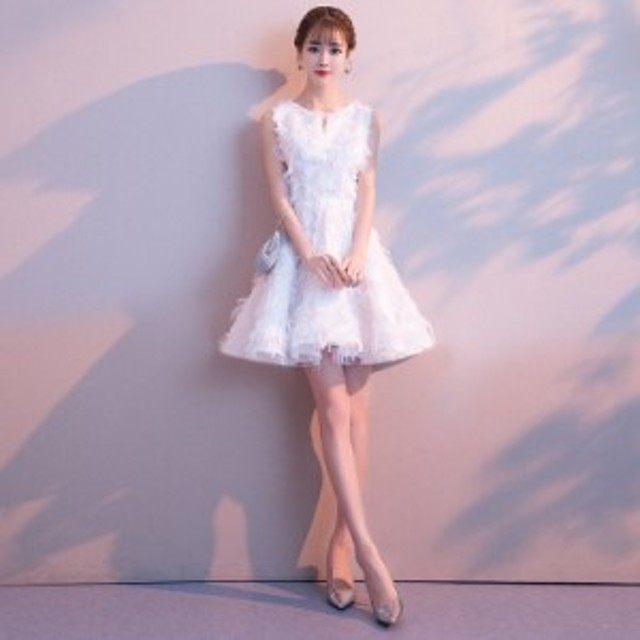 ドレス パーティードレス レディース キャバ ミニワンピース Aライン花嫁二次会発表会演奏会成人式結婚式お呼ばれドレス 大人 上品