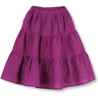 【50%OFF】 ブランシェス ティアードスカート(90~140cm) レディース ボルトピンク 100cm 【branshes】 【セール開催中】