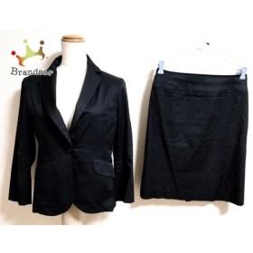 イネド INED スカートスーツ サイズ9 M レディース ダークネイビー 春・秋物 新着 20190420