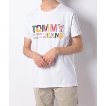トミーヒルフィガー ロゴクルーネックTシャツ メンズ ホワイト M 【TOMMY HILFIGER】