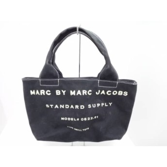 【中古】 マークバイマークジェイコブス MARC BY MARC JACOBS ハンドバッグ - 黒 アイボリー キャンバス