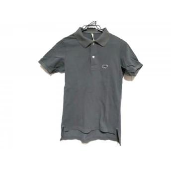 【中古】 サイ SCYE 半袖ポロシャツ サイズ40 M メンズ グレー