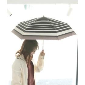 傘 - SESTO ボーダー折りたたみ日傘 晴雨兼用 紫外線遮蔽率99.9%以上 遮光率100%