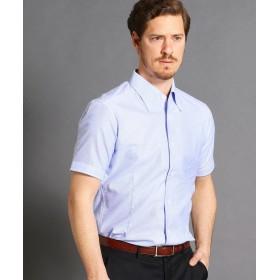 ムッシュニコル ボタンダウン半袖ドレスシャツ メンズ 64サックス 46(M) 【MONSIEUR NICOLE】