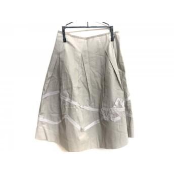【中古】 ロイスクレヨン Lois CRAYON スカート サイズM レディース ベージュ グレー リボン