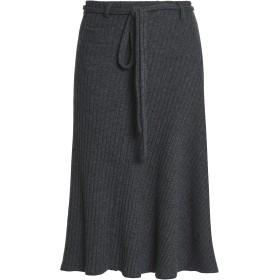 Paco Rabanne Woman メランジ リブ編みニット スカート Dark Gray Size 40