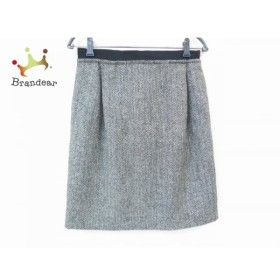 ドゥロワー Drawer スカート サイズ36 S レディース 美品 黒×アイボリー リボン    値下げ 20190720