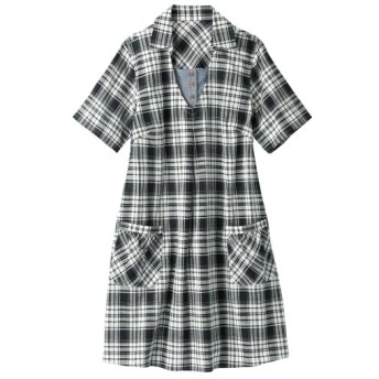 綿100%半袖デザインチュニック レディース