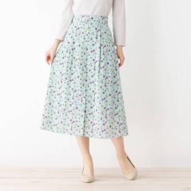 オペーク ドット クリップ OPAQUE. clip 【洗える】レトロフラワースカート (オリーブグリーン)