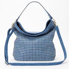 50%OFFパンチングトートバッグ - セシール ■カラー:ブルー