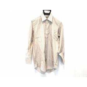 【中古】 アクアスキュータム Aquascutum 長袖シャツ サイズ38-80 メンズ 美品 ストライプ