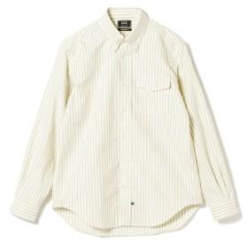 IKE BEHAR / ロングスリーブ ボタンダウンシャツ メンズ カジュアルシャツ YELLOWNAVY L