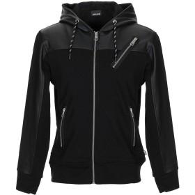 《期間限定 セール開催中》JUST CAVALLI メンズ スウェットシャツ ブラック XS コットン 100% / ポリウレタン