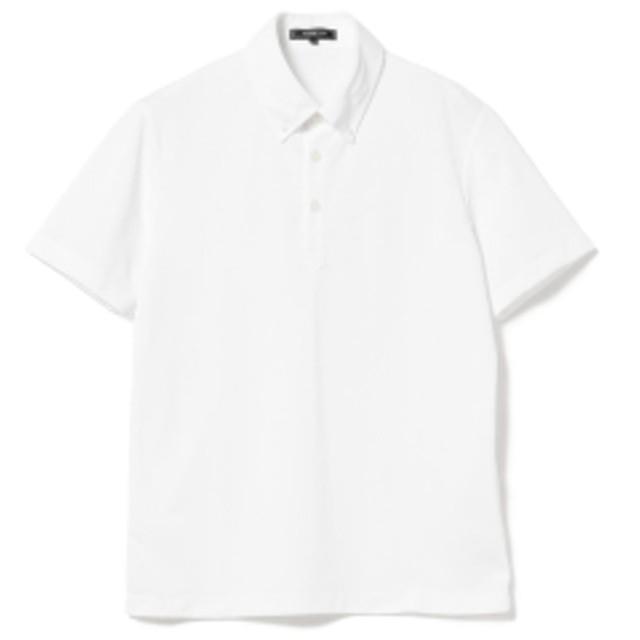 B:MING by BEAMS / クイックドライ ボタンダウン ビズポロ メンズ ポロシャツ WHITE M