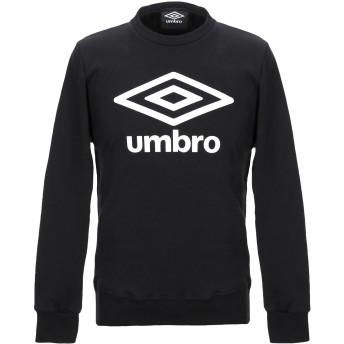 《9/20まで! 限定セール開催中》UMBRO メンズ スウェットシャツ ブラック M コットン 100%