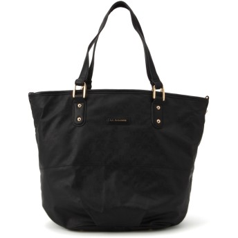 LA BAGAGERIE ラバガジェリー MONOGRAMME 2wayトート トートバッグ,BLACK