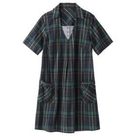 綿100%半袖デザインチュニック (大きいサイズレディース)チュニック