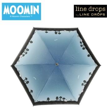 [マルイ] 日傘【MOOMIN(ムーミン)】(手開き式折りたたみ傘/晴雨兼用/UVカット率&遮光率99%以上/ラインドロップス(LINE DROPS)
