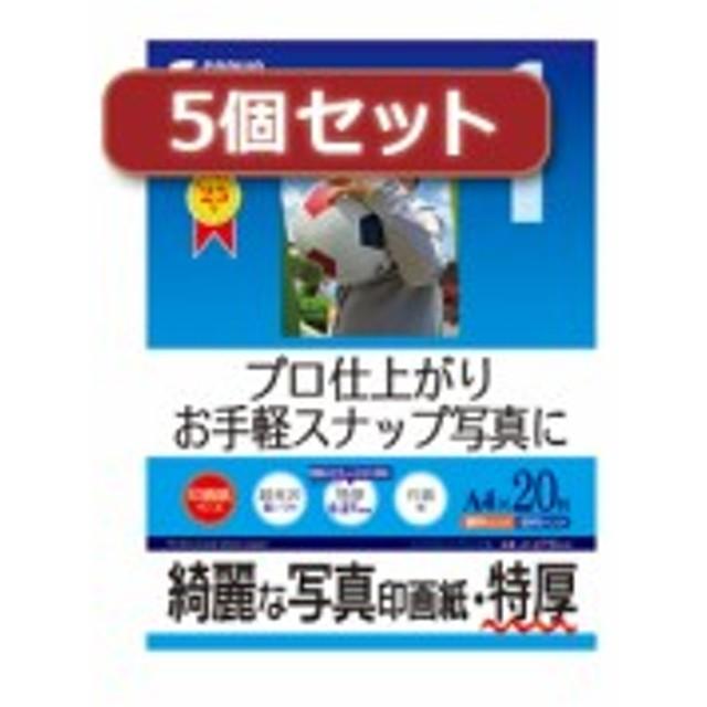 【5個セット】インクジェット写真印画紙 特厚 JP-EP6A4X5 JP-EP6A4X5 パソコン(代引不可)