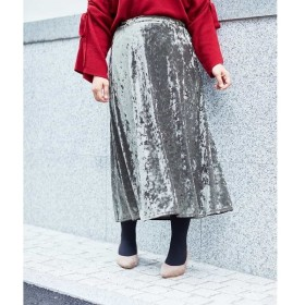 [マルイ]【セール】【大きいサイズ】クラッシュベロアロングスカート/エウルキューブ(eur3)