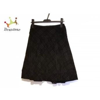 バーバリーブルーレーベル Burberry Blue Label スカート サイズ36 S レディース 黒 チェック柄 スペシャル特価 20190903