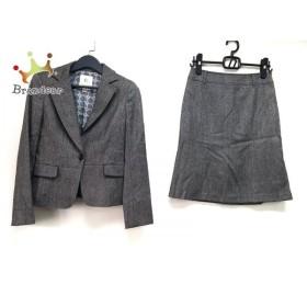 クミキョク 組曲 KUMIKYOKU スカートスーツ サイズ2 M レディース グレー ラメ/肩パッド   スペシャル特価 20190717