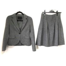 【中古】 アンタイトル UNTITLED スカートスーツ サイズ2 M レディース グレー