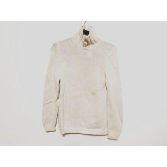【中古】 ザノーネ ZANONE 長袖セーター サイズ42 L レディース ベージュ ハイネック