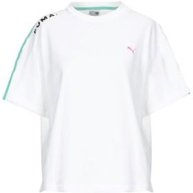 《送料無料》PUMA レディース T シャツ ホワイト XS コットン 93% / ポリウレタン 7%