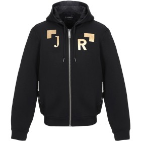 《期間限定 セール開催中》JOHN RICHMOND メンズ スウェットシャツ ブラック M レーヨン 95% / ポリウレタン 5%