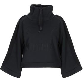 《9/20まで! 限定セール開催中》PUMA レディース スウェットシャツ ブラック XS コットン 66% / ポリエステル 34%
