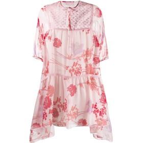 Giamba フローラル ミニドレス - ピンク