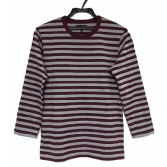 【中古】 アニエスベー agnes b 長袖Tシャツ レディース 美品 ボルドー ライトグレー ボーダー