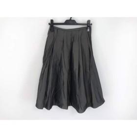 【中古】 ロイスクレヨン Lois CRAYON スカート サイズM レディース ダークグレー ダークグリーン
