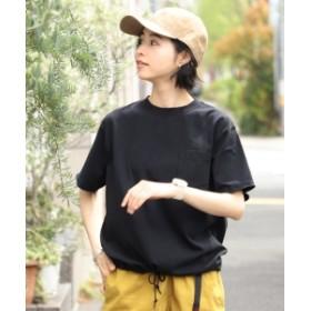 【WEB限定】BEAMS BOY / 天竺 ポケット Tシャツ レディース Tシャツ BLACK ONE SIZE