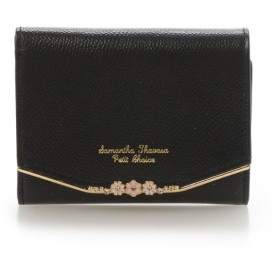サマンサタバサプチチョイス お花バーシリーズ(折財布) ブラック
