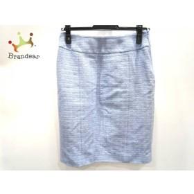 サルバトーレフェラガモ スカート サイズ38 S レディース 美品 ライトブルー×ブルー     スペシャル特価 20191002